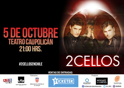 2 Cellos en Chile 2016.10.05