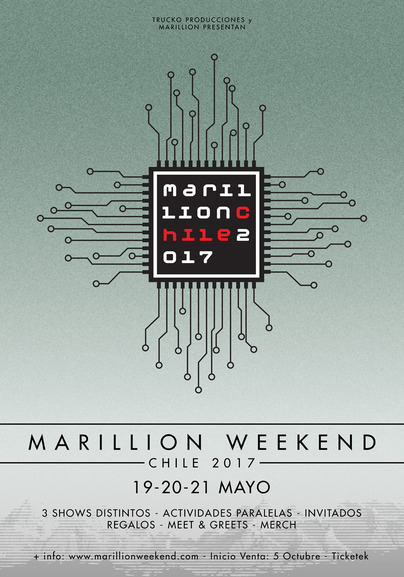 Marillion Weekend en Chile 2017.05.19-21