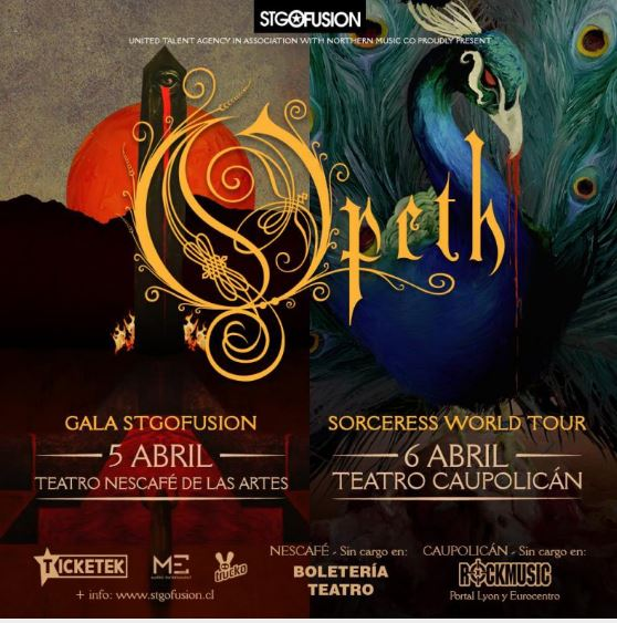 OPETH En Chile - SORCERESS WORLD TOUR 2017.04.06