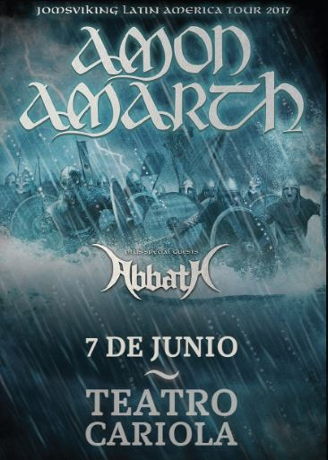 Amon Amarth en Chile 2017.06.07