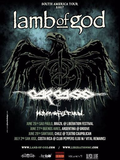 Lamb of God, Carcass y Heaven Shall Burn 2017.06.29