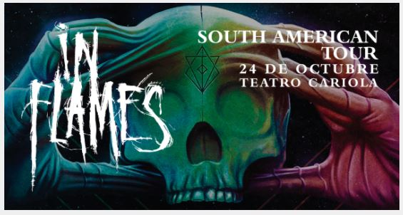 In Flames en Chile 2017.10.24