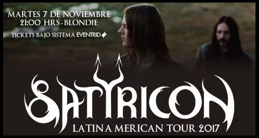 Satyricon en Chile 2017.11.07
