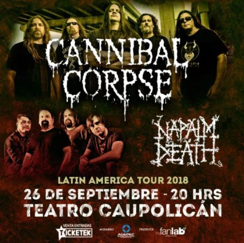 Cannibal Corpse y Napalm Death