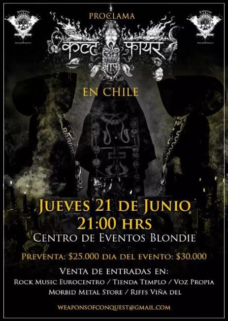 Cult of Fire en Chile