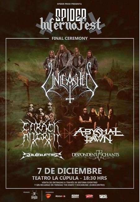 Final Ceremony: Unleashed / Carach Angren / Abysmal Dawn /