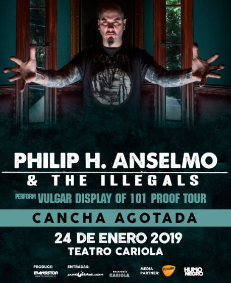 Phil Anselmo and The Illegals 2019.01.24