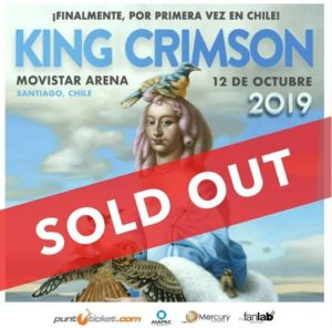 King Crimson 12 octubre sold out
